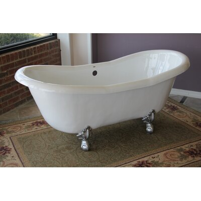 Duchess 68 x 30 Freestanding Soaking Bathtub Color: Brushed Nickel