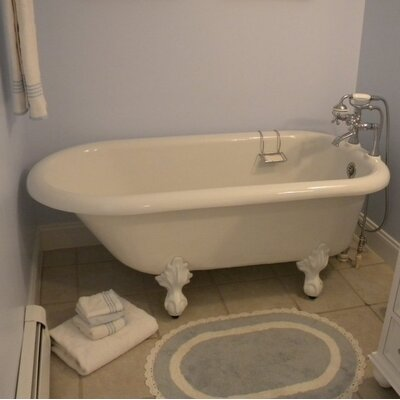 Monarch 66 x 30 Freestanding Soaking Bathtub Color: White