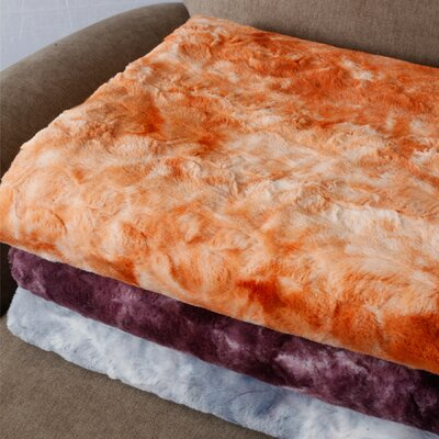 Boon Throw & Blanket Tie Dye Double Sided Faux Fur Throw Blanket