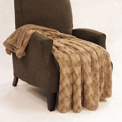 Swirl Faux Fur Throw Blanket Color: Boulder