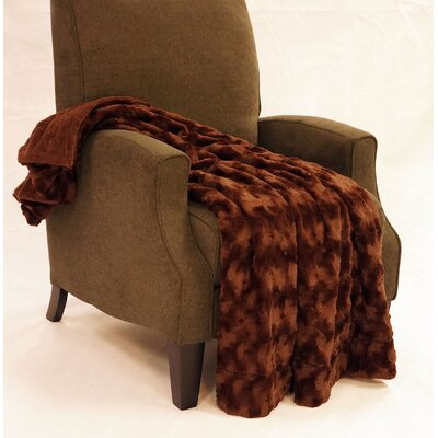 Swirl Faux Fur Throw Blanket Color: Mustang