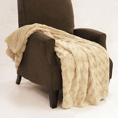 Swirl Faux Fur Throw Blanket Color: Natural