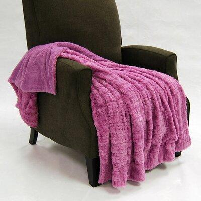 Fulton Faux Fur Throw Color: Smoky Grape