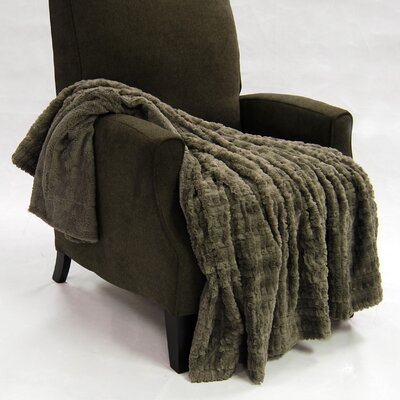Fulton Faux Fur Throw Color: Steeple Gray