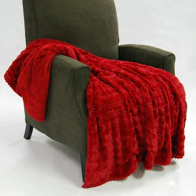 Fulton Faux Fur Throw Color: Jester Red