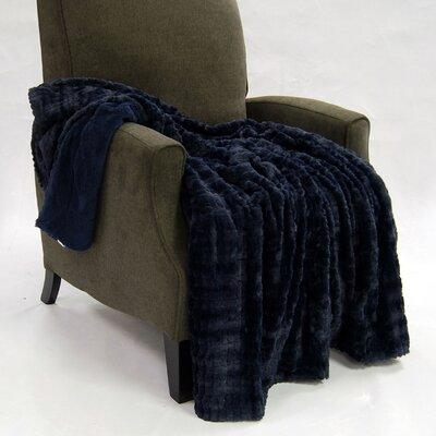 Fulton Faux Fur Throw Color: Mood indigo