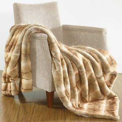Grenville Over-Sized Throw Blanket Color: White Fang