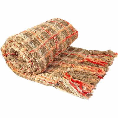 Chenille Multi-Colored Throw Blanket Color: Orange Camel