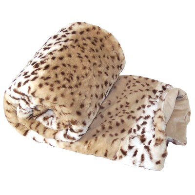 Natural Animal Faux Fur Throw Blanket Color: Lynx