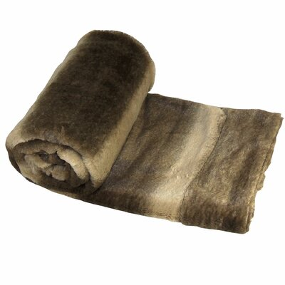 Wolf Double Sided Faux Fur Throw Blanket