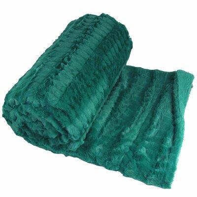 Garret Faux Fur Throw Blanket Color: Porcelain Green