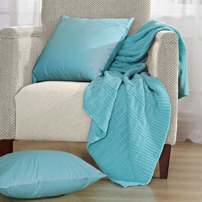 Cable Brooke Throw Blanket Color: Limpet Shell