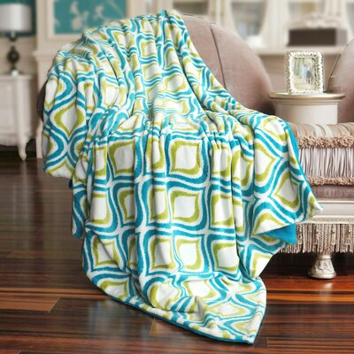 Mystique Flannel Throw Blanket Color: Light Blue