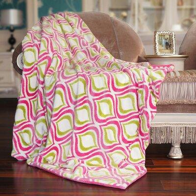 Mystique Flannel Throw Blanket Color: Pink