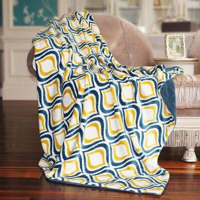 Mystique Flannel Throw Blanket Color: Dark Blue