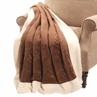 Micro Plush Sherpa Throw Color: Brown