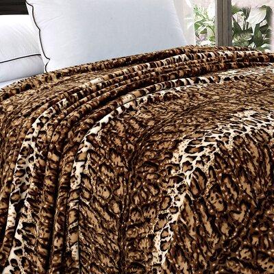 BOON Throw & Blanket Safari Flannel Fleece Blanket - Size: Twin