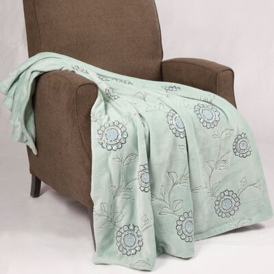 Sequin Embroidered Polyester Throw Blanket Color: Harbor Gray