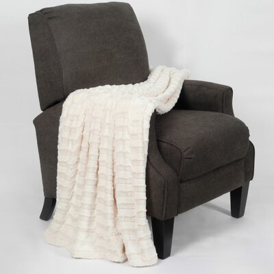 Saga Jumbo Over Sized Double Sided Throw Blanket Color: Antique White
