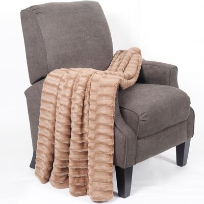 Saga Jumbo Over Sized Double Sided Throw Blanket Color: Taupe