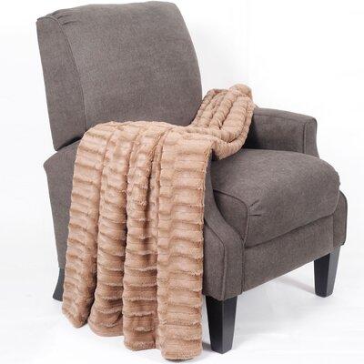 Saga Jumbo Over Sized Double Sided Throw Blanket Color: Taupe
