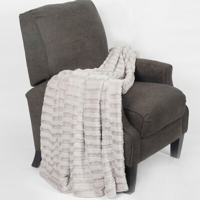 Saga Jumbo Over Sized Double Sided Throw Blanket Color: Gray