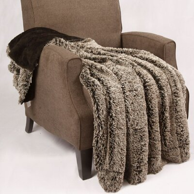 Woolly Mammoth Throw Color: Black