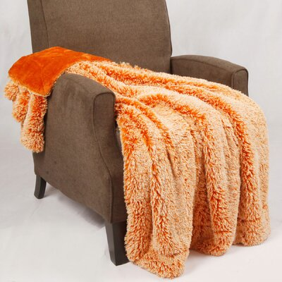 Woolly Mammoth Throw Color: Burnt Orange