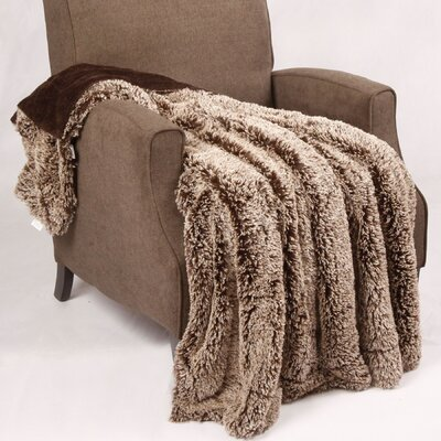 Woolly Mammoth Throw Color: Chocolate Brown