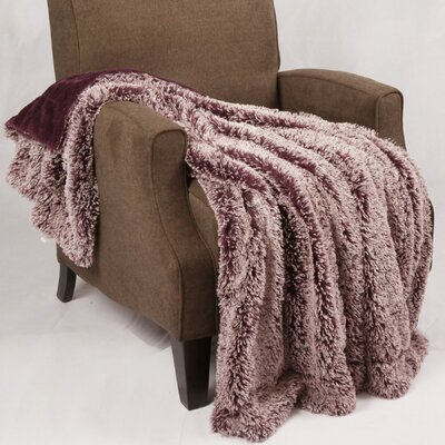 Woolly Mammoth Throw Color: Purple