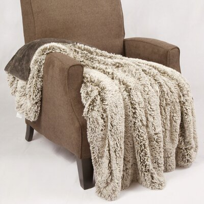 Woolly Mammoth Throw Color: Steel Grey