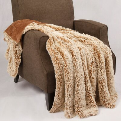 Woolly Mammoth Throw Color: Tannin
