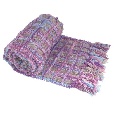 Chenille Multi-Colored Throw Blanket Color: Purple