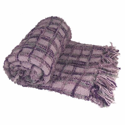 Chenille Multi-Colored Throw Blanket Color: Dark Plum