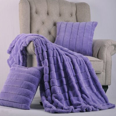 Grenville Rabbit Faux Fur Throw Color: Paisley Purple