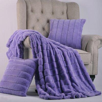Luxury Rabbit Faux Fur Throw Color: Paisley Purple