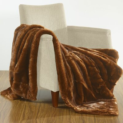 Luxury Over-Sized Throw Blanket Color: Beaver