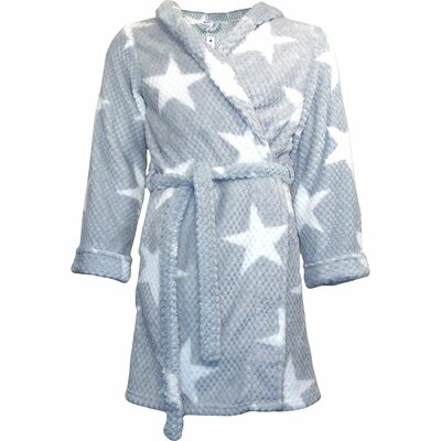 Star Flannel Bath Robe Size: Small / Medium