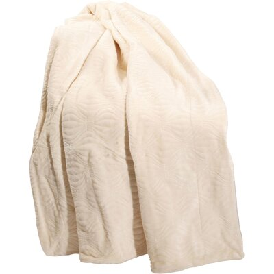Quilted Flannel Fleece Throw Color: Antique White