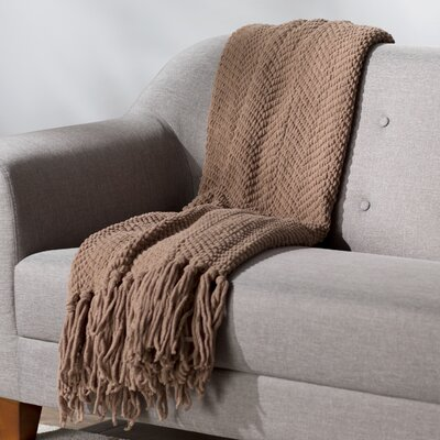 Sidon Tweed Knitted Throw Blanket Color: Amphora