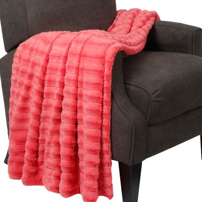 Garren Over Sized Double Sided Throw Blanket Color: Spice Coral
