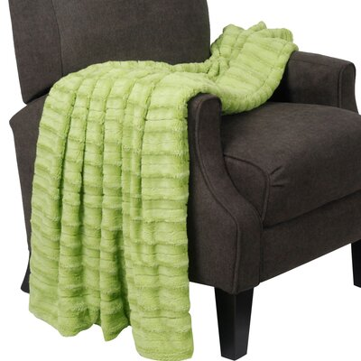 Garren Over Sized Double Sided Throw Blanket Color: Citron