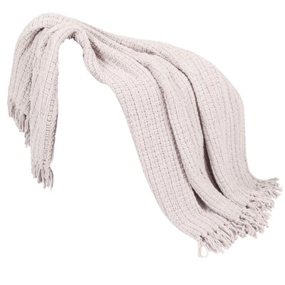 Mortensen Knitted Throw Blanket Color: Lilac
