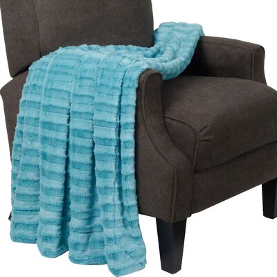 Garren Over Sized Double Sided Throw Blanket Color: Sky Blue