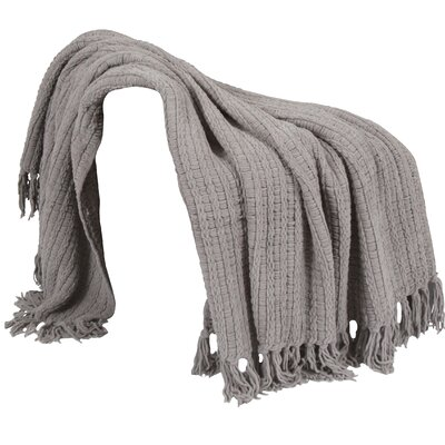 Space Yarn Knitted Throw Blanket Color: Charcoal Grey