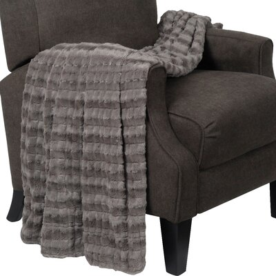 Derby Jumbo Over Sized Double Sided Throw Blanket Color: Charcoal