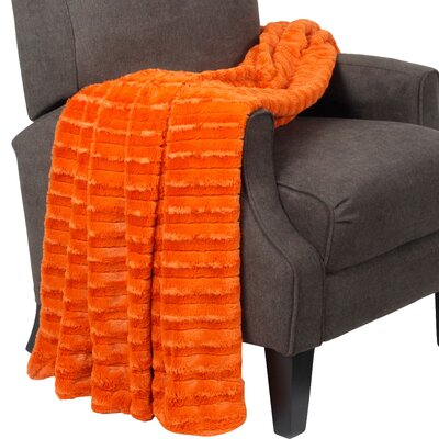 Garren Over Sized Double Sided Throw Blanket Color: Burnt Orange
