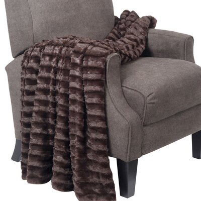 Garren Over Sized Double Sided Throw Blanket Color: Chocolate