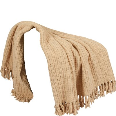 Mortensen Knitted Throw Blanket Color: Light Camel
