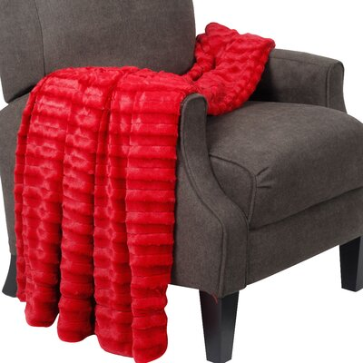 Garren Over Sized Double Sided Throw Blanket Color: Chili Pepper